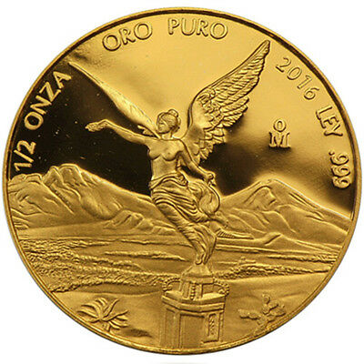 ON SALE! 2016 1/2 oz Mexican Gold Libertad Coin (BU)