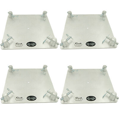 Set Of Four 12  X 12  Aluminum Truss Base Or Top Plate Fits Global Truss F34 Sq
