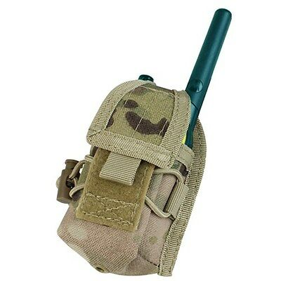 CONDOR Multicam MOLLE Belt Carabiner HHR Radio Holster Pouch L/R Antenna MA56
