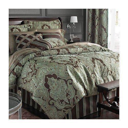 Queen Duvet Cover Blue Brown Ebay