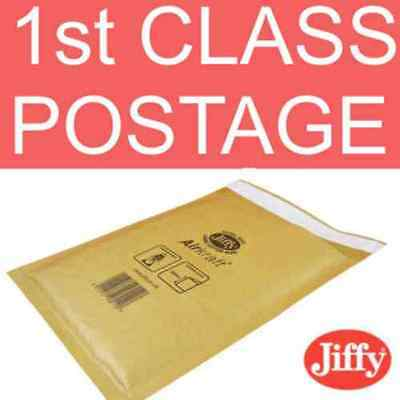 10 JL00 Jiffy Bags bubble Padded Envelopes GOLD 115 x195 B/00 bubble 10x