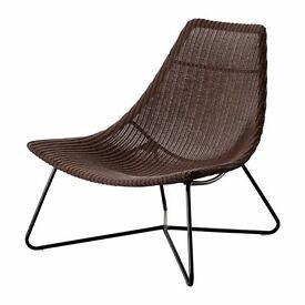 IKEA RADVIKEN armchair, rattan, Scandinavian, dark brown/black armchair SALE