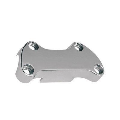 Riser Clamp, Handlebar, with Apron, Chrome, for Harley - (Riser Apron)