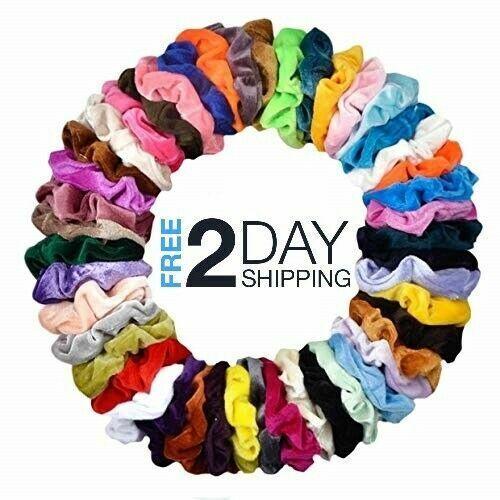 10 Pcs Hair Scrunchies Velvet Elastics Hair Ties Scrunchy Bands Ties Ropes Gifts