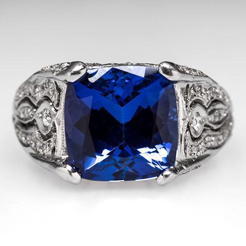 Estate Tanzanite Ring Ebay
