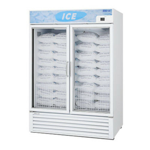 Turbo Air Tgim-49w-n Glass Two Door Ice Merchandiser