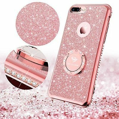 Luxury Bling Diamond Ring Holder Stand Case Cover For iPhone 11 Pro XR 7 8 Plus