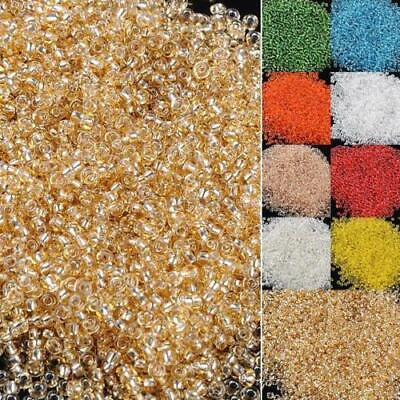 lass seed spacer beads jewelry making diy pick 22 colors SY (Bulk Seed Beads)