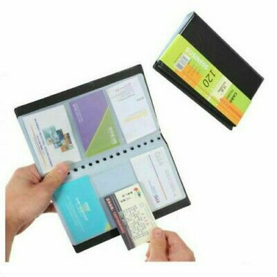 Office 120 Cards Business Name Id Credit Holder Book Case Keeper Organizer Tool