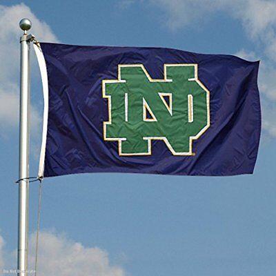 Notre Dame Flag (NOTRE DAME FIGHTING IRISH FLAG 3'X5' BANNER: FREE)