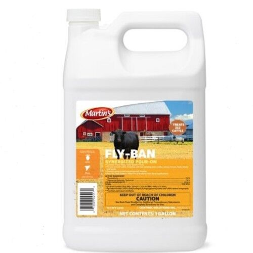 Fly-Ban Synergized Pour-On Cattle Sheep Horse 2.5 Gallon
