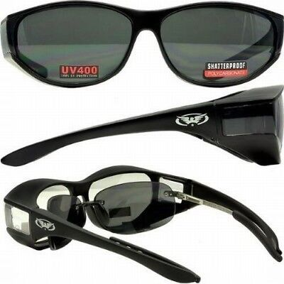 Motorcycle Saftey Sunglasses FIT OVER PRESCRIPTION RX GLASSES Fitover-FREE (Prescription Motorcycle Sunglasses For Men)