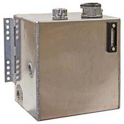 Aluminum Hydraulic Reservoir - Intergal Brackets - 25 Gallons - 10 Micron Filter