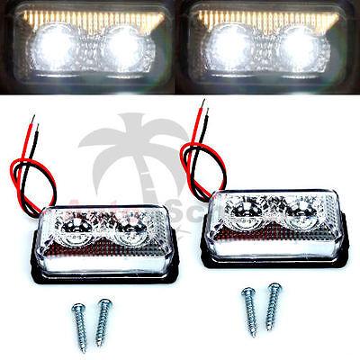 2x LED Umrissleuchte 12V 24V Positionsleuchte LKW Begrenzungsleuchte Hänger weiß