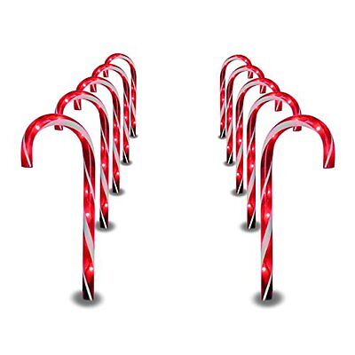Prextex Christmas Sweetmeats Cane Pathway Markers 10 Indoor outdoor Decoration Lights