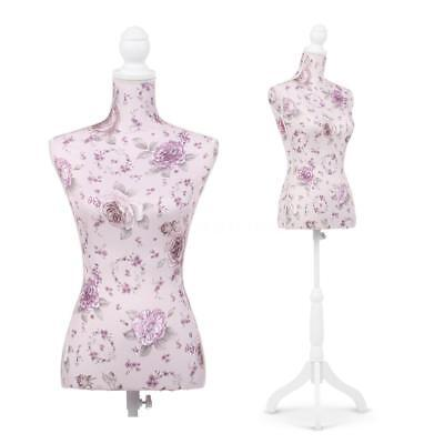 Ikayaa Female Mannequin Torso Dress Form Display W Wood Tripod Stand D4c9