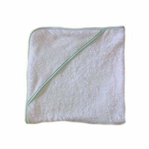 infant hooded towel mint gingham
