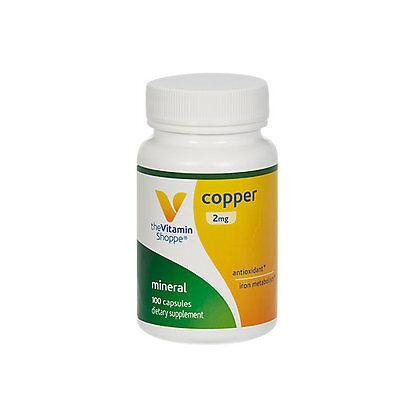 The Vitamin Shoppe Copper 2 Mg   100 Capsules