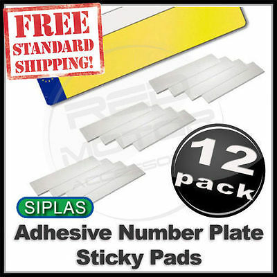 SIPLAS SIGNAM Adhesive Car Number Plate STICKY PADS HEAVY DUTY -12 Pack FREE P&P
