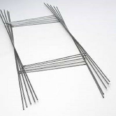 50 Pack H Wire Step Stakes For Corrugated Yard Sign Holder 10 X 30