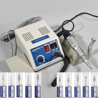 Dental Lab Marathon Electric Micromotor Polisher 35k Rpm Handpiece Tungsten Burs