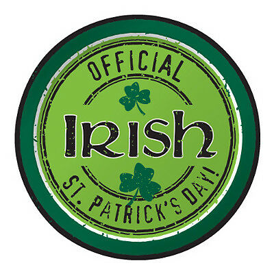 icial Irish SMALL PAPER PLATES (8) ~ Birthday Party Supplies (St Patricks Day Party Supplies)
