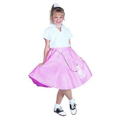 1950S 50'S GIRL CHILD COSTUME POODLE SKIRT SCARF SOCK HOP DIVA COSTUMES 91138 - 1950 S Costume