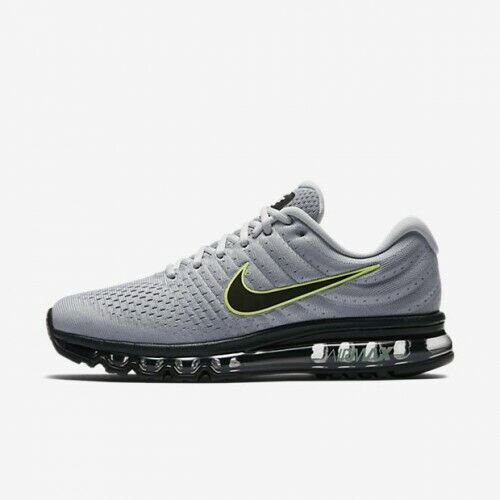 best service b619e 19b55 Nike Air Max 2017 Wolf Grey Black Platinum 849559-012 Men's Running Shoes  NEW!