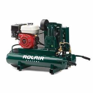 ROLAIR 5.5 HP Honda, 9.3 CFM@90PSI, 9 Gall Twin Tank Compressor $599.99