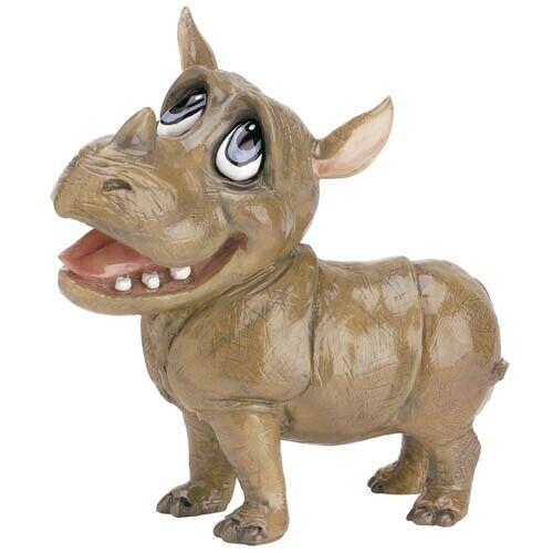 "Little Paws ""Rhianna"" Rhinoceros Figurine Statue 5"" High Ceramistone New"