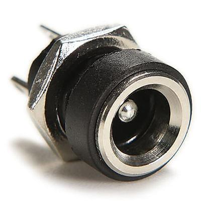 10pcs DC Power Supply Jack Socket Female Panel Mount Connector 5.5 x 2.1mm CA