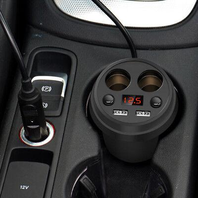 DC Dual Socket Auto Zigarettenanzünder Netzteil Ladegerät Splitter 2 USB Port DE Socket Splitter