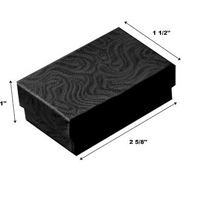 200 Black Swirl Cotton Fill Jewelry Packaging Gift Boxes 2 58 X 1 12 X 1