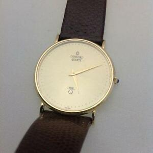 concord mens watch men s gold concord watch