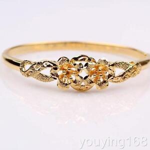 Bracelet 24k gold filled fleur Forme ouvrable neuf