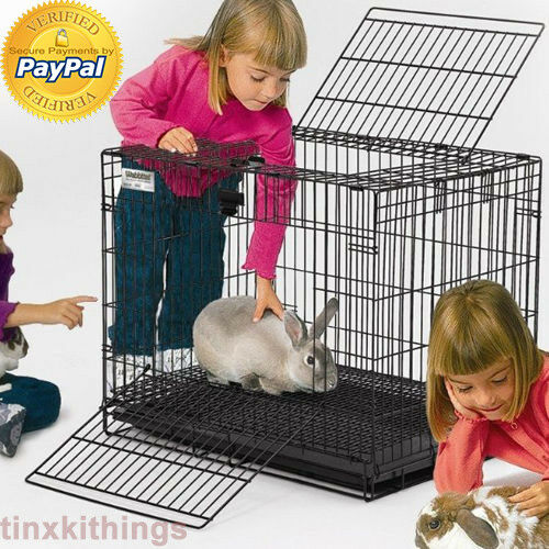 Animal Wire Home Cage for Rabbit Bunny Habitat Travelling