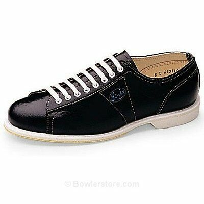 Linds Men's Classic Black Right Handed Wide Width Bowling Shoes Size 5 Eee