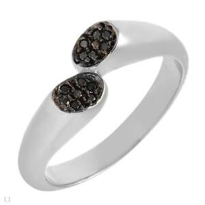 BRAND NEW GENUINE BLACK DIAMOND RING SIZE 8 RETAIL $149.00
