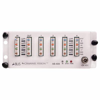 Channel Vision A-BUS Audio Distribution Hub, 1 Source/4 Zones (AB-404)