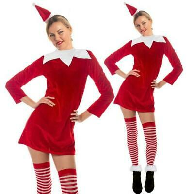 Elf Costume Christmas Festive Elf Naughty Santa Mrs - Naughty Santa Kostüme