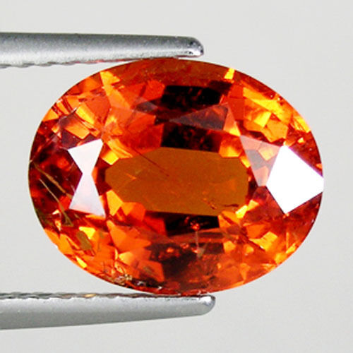 5.79 ct TOP LUSTROUS-ORANGE RED _ NATURAL SPESSARTITE GARNET GEMSTONE  2902 DL