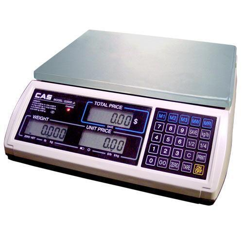 CAS JR-S-2000-15 Legal for Trade Price Computing Scale 15 x 0.002 lb