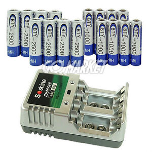 8-8-AA-AAA-1-2v-Ni-MH-Rechargeable-Battery-Charger-Se