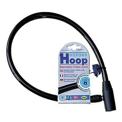 Oxford Hoop Essential Bike Cycle Secure Safety Cable Lock Black