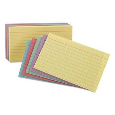 Oxford Ruled Index Cards 4 X 6 Assorted 100pack Oxf34610