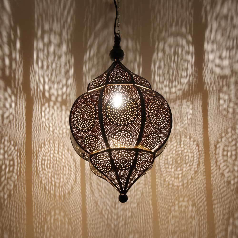 orientlampe orientalische h ngelampe indische lampe abha metal 45cm ebay. Black Bedroom Furniture Sets. Home Design Ideas