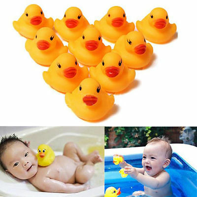 (20 Baby Kid Cute Bath Rubber Duck Birthday Squeaky Ducky Water Shower Toy Favors)