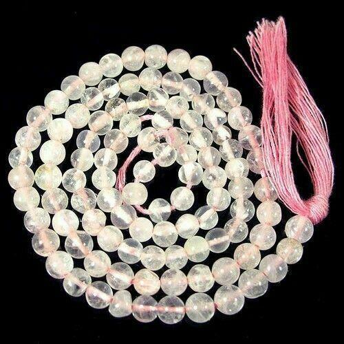 Indian+Loose+Gemstone+Beautiful+Natural+Rose+Quartz+Round+Beads+27.50+Carets+2+m