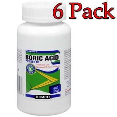Humco Boric Acid Powder NF, 6oz, 6 Pack 303950303963A551