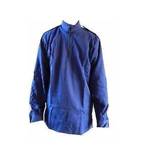 Navy-Blue-Norwegian-Norgi-British-Naval-Issue-Light-Weight-Zip-Up-Shirt-New